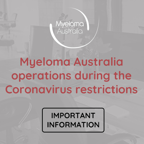 Myeloma Australia business operations during the coronavirus restrictions